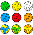 cartoon volleyball vector image