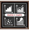 Doodle graph icons set vector image