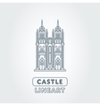Abstract castle logo vector image