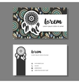 Busines cards with dreamcatcher pattern vector image