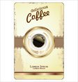 Coffee card template vector image