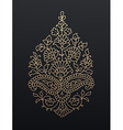 Golden floral paisley ornament vector image