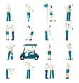 Golf People Flat Set vector image