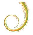 green and orange bent lines vector image