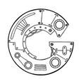 mechanical letter g engraving vector image