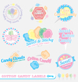 Cotton Candy Labels vector image