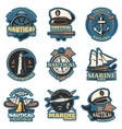 Nautical Emblem Set In Color vector image vector image