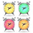 Colorful alarm clock vector image vector image