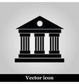 University Icon Isolated on grey Background vector image