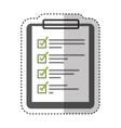 checklist clipboard isolated icon vector image