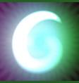 single light blue neon letter g of vector image