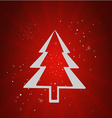 Merry Christmas holidays RED vector image
