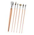 Art Paint Brush Collection Set vector image