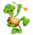 Cartoon turtle holding bow vector image
