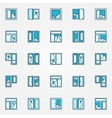 Colorful broken glass icons vector image