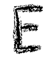 E Brushed vector image