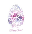Floral card for Easter day Happy Easter greeting vector image