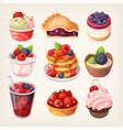 forest fruit desserts vector image