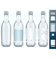 Four Glass Bottles with Generic Labels vector image