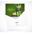 St Patricks Day Leprechaun With Pot Of Gold vector image