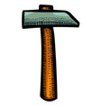 cartoon image of hammer icon vector image
