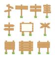 wooden signboards wood arrow sign set vector image