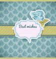 vintage greeting template vector image