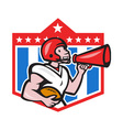 American Football Quarterback Bullhorn Cartoon vector image