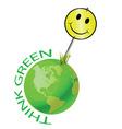earth sign happy vector image vector image