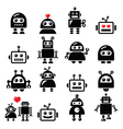 Male and female robot Artificial Intelligence vector image