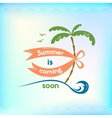 Summer sign retro typography sea and beach logo vector image