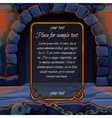 Stone hearth and frame for sample text vector image