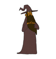 comic cartoon wizard vector image