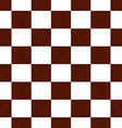 Brown grunge checkered pattern vector image