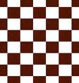 Brown grunge checkered pattern vector image