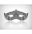 hand drawn lace mask masquerade logo icon vector image