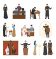 religion characters set vector image