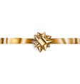 Beautiful golden shiny bow vector image