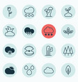 set of 16 ecology icons includes love flower vector image