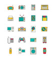 electronics and gadgets icons set vector image