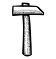 cartoon image of hammer icon vector image