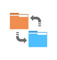 data synchronization icon computer connection vector image