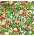 different colorrful vegetables vector image vector image