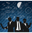 Business people group black silhouette concep vector image