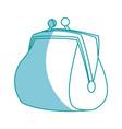 cartoon money purse safe finance icon vector image