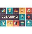 cleaning - modern flat design icons set vector image