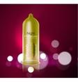 condom ad template Latex contraceptive 3d vector image