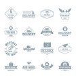 delivery service logo icons set simple style vector image