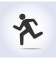 running human icon vector image