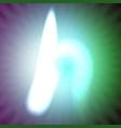 single light blue neon letter h of vector image